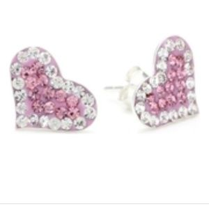 Betsy Johnson Heart Stud Earrings